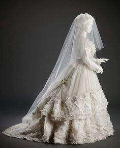1868 wedding dress.