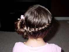 Little Girl's Hairstyles – Full Side Twist