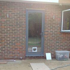Bon Aluminium Dual Colour Grey/white Back Door   EBay