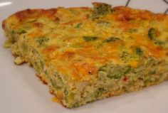 Crustless Broccoli Cheddar Quiche - Alida's Kitchen