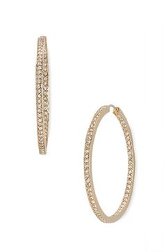 got it Nadri Large Channel Hoop Earrings available at #Nordstrom