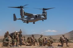 https://flic.kr/p/wS38vP | Here Come the Marines! | A USMC Bell Boeing MV-22B Osprey is about to land to pick up injured personnel and Marines during a rescue exercise.   As part of Exercise Angel Thunder 2015  For our coverage of Exercise Angel Thunder 2015 and more...  Visit: Aviation Photography Digest