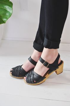 Betty Clog in Black via Fine Life Co. -$89