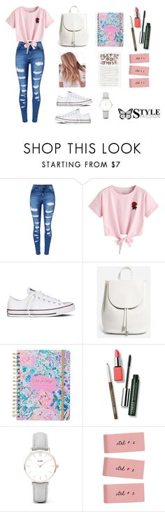"""Casual Outfit"" by carol-gegenheimer on Polyvore featuring moda, WithChic, Converse, Everlane, Lilly Pulitzer, Clinique, CLUSE, tumblr, fabulous e casualoutfit"