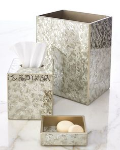 Oatmeal Frost Vanity Accessories by Waylande Gregory at Neiman Marcus.