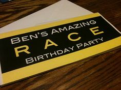 homeschool musings ben s amazing race birthday party Late Birthday, 13th Birthday Parties, It's Your Birthday, Boy Birthday, Birthday Ideas, Happy Birthday, Amazing Race Party, Kids Party Themes, Party Ideas
