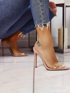 Transparent Pointed Toe Buckle Thin Heels Women's Online Shopping Offering Huge Discounts on Dresses, Lingerie , Jumpsuits , Swimwear, Tops and More. Pointed Toe Heels, Stiletto Pumps, Peep Toe Pumps, Pumps Heels, High Heel Boots, Heeled Boots, High Heels, Heeled Sandals, Shoe Boots