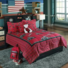 Birchwood Case IH Twin Size Comforter Set: The case ih twin bedding set includes a comforter and a standard pillow sham, all featuring the beloved case ih brand. Bedding fabric is soft cotton and has a 220 thread count. Queen Size Comforter Sets, Duvet Sets, Bed Sets, Case Ih, Red Bedding, Luxury Bedding, Shabby, Twin Sheet Sets, Comforters