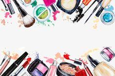 O material de maquiagem ferramentas, Salão De Beleza, Maquiagem, BelezaImagem PNG