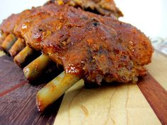 Fall Off the Bone Ribs Recipe - baby back ribs coated with a homemade BBQ rub and baked. Finish off on the grill with a homemade BBQ sauce. THE BEST! Better than any restaurant. We never order ribs out anymore.