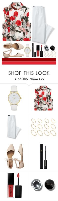 """Untitled #280"" by kmeowj ❤ liked on Polyvore featuring Kate Spade, Ganni, Lands' End, ASOS, Gap, Lancôme, Smashbox and Bobbi Brown Cosmetics"
