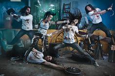 ben von wong, band photo, fight scene