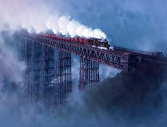 Railway Paintings by John Austin FGRA... Crumlin Viaduct in 1961..17
