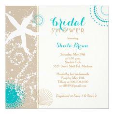 Beach Bridal Shower Invitation Under the Sea Invitation Beach