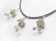 Button Bellflower Necklace by weggart, via Flickr