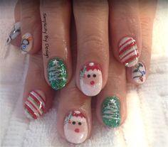 Day 359: Merry Christmas Nail Art - - NAILS Magazine