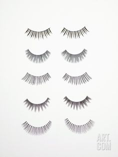 False Eyelashes Photographic Print by Tek Image at Art.com