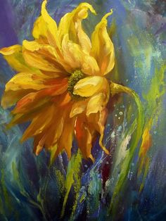 Kitchen Decor Sunflower 53 New Ideas Sunflower Home Decor, Sunflower Art, Sunflower Kitchen, Arte Floral, Shabby Chic Dining, Georges Braque, Easy Paintings, Oil Paintings, Mellow Yellow