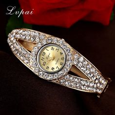 Lvpai Women Watches 2016 Rhinestone Bracelet Wristwatches Fashion Classic Ladise Watches Luxury Vintage Wrist Dress Quartz Watch $12.79 => Save up to 60% and Free Shipping => Order Now! #fashion #woman #shop #diy www.greatwatch.ne...
