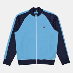Fred Perry Bomber Track Jacket - Alaskan Blue