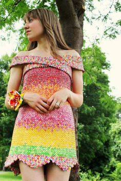 Dress made from Starburst wrappers