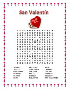 Valentine's Day- Word Search & Double Puzzle in Spanish from La Señora H on TeachersNotebook.com -  (2 pages)  - This exciting Word Search & Double Puzzle can teach vocabulary words to students using cognates and a hint word to let them know what the search is about.