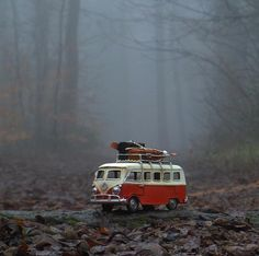 More autumn fun. Abstract Photography, Creative Photography, Amazing Photography, Vw Bus, Vans California, Miniature Photography, Beautiful Nature Wallpaper, Adventure Photography, Cute Cars
