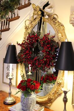 from Mary Carol Garrity's Holiday Home Tour (she owns the Nell Hill's interior stores)