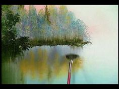 Bill Alexander paints Fall River part 2/3 wet on wet oil painting art - YouTube