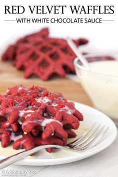 These decadent red velvet waffles use a cake-like batter to give the classic velvety consistency you'll love in this treat that's perfect for Valentine's Day.