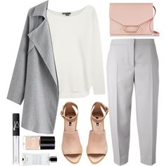 NUDE & GREY by laurabustard on Polyvore featuring Vince, Maison Margiela, H&M, Victoria Beckham, NARS Cosmetics, Agonist and Crabtree & Evelyn