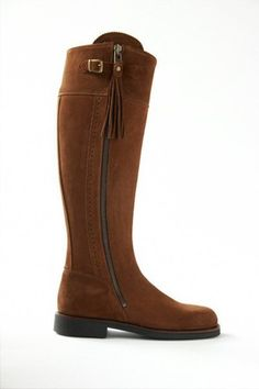 ab96280d6291 Spanish Riding Boots suede  Camel (flat sole)