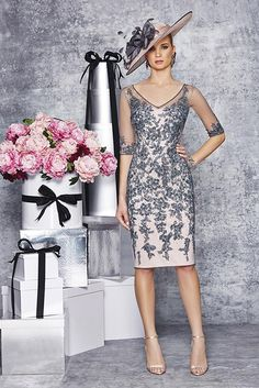 New into stock we have this Ronald Joyce 991079 from their new Autumn/Winter 2015 collection.  This is a stylish Mother of the Bride and Special Occasion dress in Charcoal.  This dress retails at £550.  To see more from Ronald Joyce take a look at our collection page.