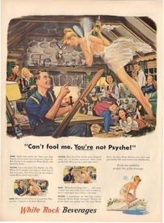1948 White Rock Sparkling Water Advertisement
