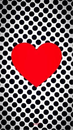 Wallpaper heart and polka dot http://htctokok-infinity.hu , http://xperiatokok-infinity.hu