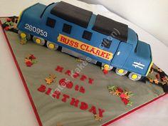 60th Train Birthday Cake
