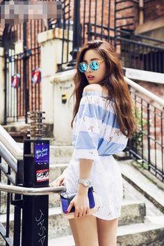 Korean Fashion: After School Nana Korean Street Fashion, Korea Fashion, Kpop Fashion, Asian Fashion, Girl Fashion, Womens Fashion, Style Outfits, Cute Outfits, Fashion Outfits