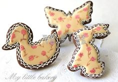 Easter cookies painted with a brush. my little bakery.
