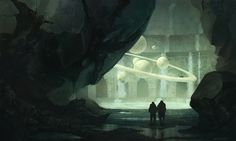 Nostradamus' Cave, Klaus Pillon on ArtStation at https://www.artstation.com/artwork/nostradamus-cave