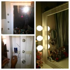 DIY vanity.Once a small closet.  K.Kreations-Homemade,Repurposed refinished & upcycled items.Creations available to rent for weddings/events.From lighting to drapery to homemade dance floors.Other items not event related(home design/re-modeling,projects) can be done/made to order.Upcoming website in the works.