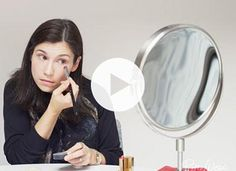 How to Use Red Lipstick as Concealer via @PureWow