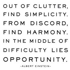 am getting rid of clutter and i can see simplicity in my future!!! love it...thanks Albert