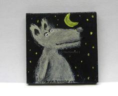 Mondsüchtig Nr. 2 von HERBIVORE11 Tiere und Kunst auf DaWanda.com