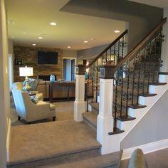 """might be a bit """"fancy"""", but it looks nice-not like a basement"""