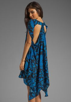 Surface to Air Float Dress in Leaves Print