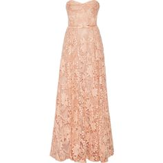 Marchesa Notte Sequin-embellished embroidered tulle gown ($730) ❤ liked on Polyvore featuring dresses and gowns