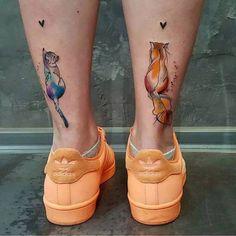 tatouage-cheville-femme-chats-aquarelle-arrière-chevilles