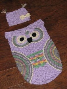 Creative Crochet by Becky: Free Crochet Pattern for Baby Owl Cocoon with Hat