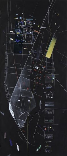 Zaha Hadid / New York, Manhattan : A New Calligraphy of Plan.  ns: simply no drawing like Zaha Hadid's drawing. She Rocks.