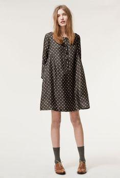 Pebble Printed Silk Twill Smock Dress  £97.50